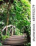 small wooden bridge in the... | Shutterstock . vector #689552179