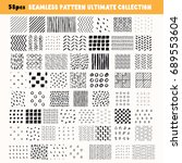 bundle of hand drawn seamless... | Shutterstock .eps vector #689553604
