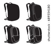 process of drawing a backpack.... | Shutterstock .eps vector #689554180