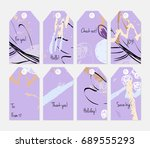hand drawn creative tags.... | Shutterstock .eps vector #689555293