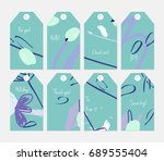 hand drawn creative tags.... | Shutterstock .eps vector #689555404