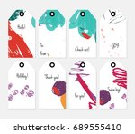 hand drawn creative tags.... | Shutterstock .eps vector #689555410