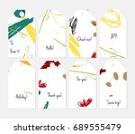 hand drawn creative tags....   Shutterstock .eps vector #689555479