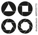 aperture  camera lens symbol   Shutterstock .eps vector #689555773