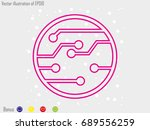 electronic circuit  icon ... | Shutterstock .eps vector #689556259