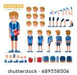 school boy character... | Shutterstock .eps vector #689558506