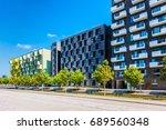 modern apartment flats in... | Shutterstock . vector #689560348