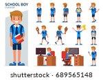 School Boy Character In...