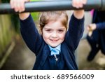 4 year old confident primary... | Shutterstock . vector #689566009