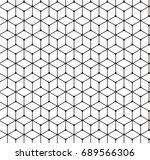 geometric black and white... | Shutterstock .eps vector #689566306