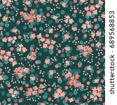 flowery bright pattern in small ... | Shutterstock .eps vector #689568853