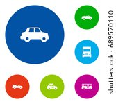 set of 6 traffic icons set... | Shutterstock .eps vector #689570110