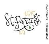 happy saint patrick's day... | Shutterstock . vector #689580940