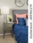 designer bedroom | Shutterstock . vector #689581270
