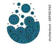 vector explosion splash circle... | Shutterstock .eps vector #689581960