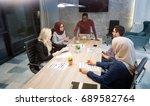 business meeting in a modern... | Shutterstock . vector #689582764