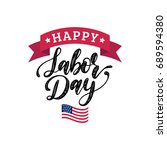 vector happy labor day card.... | Shutterstock .eps vector #689594380