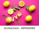 delicious sliced and peeled... | Shutterstock . vector #689606083