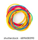 Pile Of Colorful Rubber Bands...