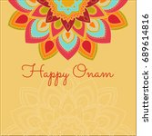 beautiful onam festival... | Shutterstock .eps vector #689614816