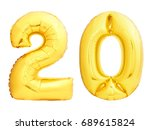 golden number 20 twenty made of ... | Shutterstock . vector #689615824