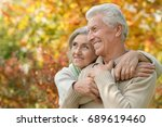 senior couple outdoors | Shutterstock . vector #689619460