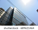 buildings around the core of... | Shutterstock . vector #689621464