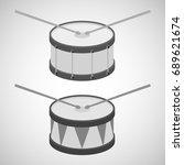 drum  drum icon  drum sticks.... | Shutterstock .eps vector #689621674