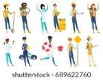 profession set for women   road ... | Shutterstock .eps vector #689622760