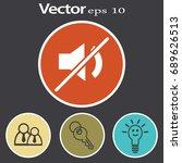 flat vector mute sound icon
