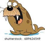 illustration of an excited... | Shutterstock .eps vector #689626549