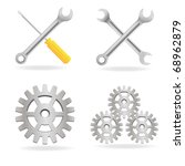 set of tools icon isolated on... | Shutterstock .eps vector #68962879