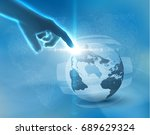 earth globe business background ...   Shutterstock .eps vector #689629324
