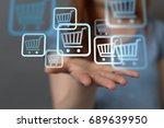 shop digital | Shutterstock . vector #689639950
