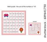 worksheet. the task    go... | Shutterstock .eps vector #689641750