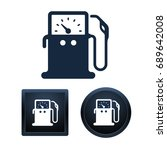 design of gas pump icons on... | Shutterstock .eps vector #689642008