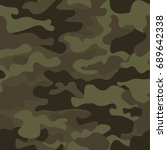 camouflage seamless pattern... | Shutterstock .eps vector #689642338