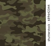 camouflage seamless pattern... | Shutterstock .eps vector #689642344
