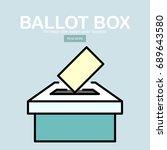 vector ballot box icon. voting  ...   Shutterstock .eps vector #689643580