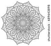 outline mandala for coloring... | Shutterstock .eps vector #689643898