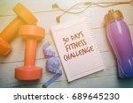 30 days fitness challenge... | Shutterstock . vector #689645230