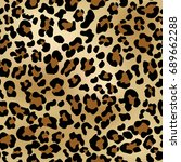 seamless leopard pattern can be ... | Shutterstock .eps vector #689662288