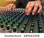 sound recording studio mixing... | Shutterstock . vector #689663308