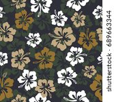 seamless repeat pattern with... | Shutterstock .eps vector #689663344