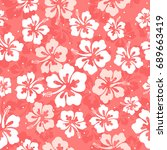 seamless repeat pattern with... | Shutterstock .eps vector #689663419