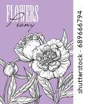 hand drawn flower set leony | Shutterstock .eps vector #689666794