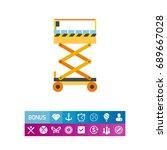 scissors lift vector icon   Shutterstock .eps vector #689667028