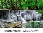 huay mae kamin waterfall in... | Shutterstock . vector #689670694