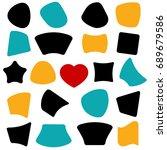 set color shapes. banner  star  ... | Shutterstock . vector #689679586