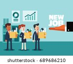 welcome to the new job vector... | Shutterstock .eps vector #689686210